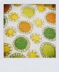 (+ Chi +) Tags: polaroid sx70 fabric 600 closeuplens ndfilter feedsac vintageclothe