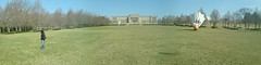Nelson Atkins Grounds - panoramic (DD/MM/YYYY) Tags: panorama sculpture art museum america gallery sonyericsson panoramic kansascity missouri sequence nelsonatkins shuttlecock k800i