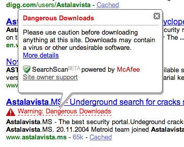 Yahoo Labels Google as Malware