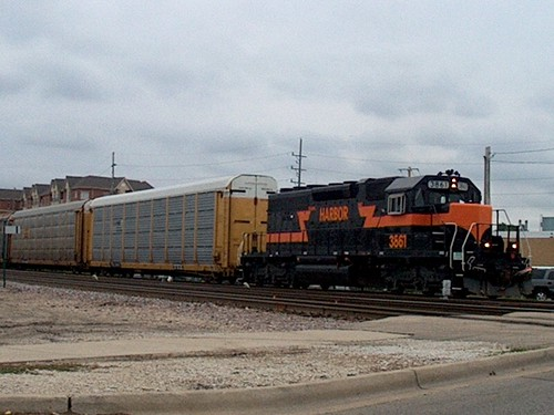 Westbound Indiana Harbor Belt Railroad transfer train. Franklin Park Illinois. September 2006. by Eddie from Chicago
