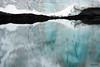 El reflejo abstracto del glaciar