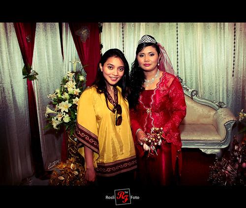 Bride with Diana Rafar