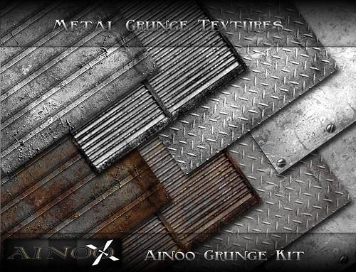 - Ainoo Grunge Kit - Metal Grunge Textures by Ainoo By Alexx Pelia
