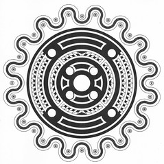 Zentangle HubCap (Marguerite1997) Tags: blackandwhite geometric composition grid circles symmetry autocad balance depth zentangles zentanglepattern zentangleinspiredart zentanglegreetingcards