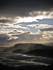 Little cloud amidst the storm (c_c_clason) Tags: clouds river olympus greenland duststorm sander kangerlussuaq