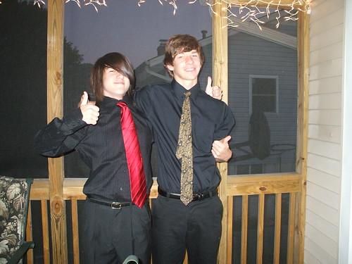 Chris & Ian before homecoming