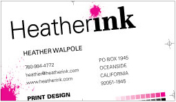 Heather Ink business card