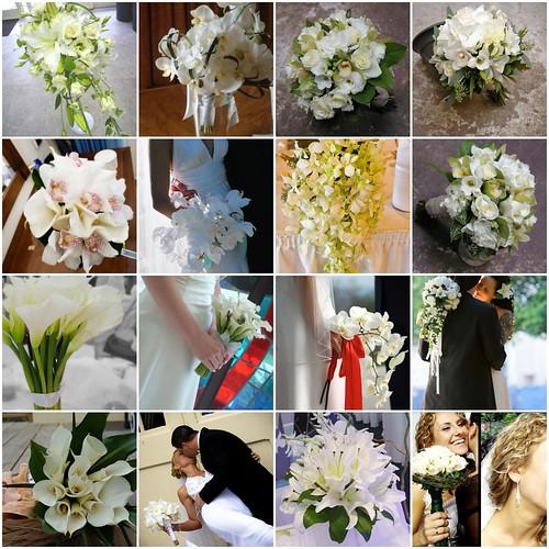 white wedding flowers ideas. White Wedding Bouquets