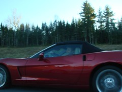 The young fellow driving wasnt expecting to meet up with us (redvette) Tags: corvette rivervalleyvettes redvette tomhiltz
