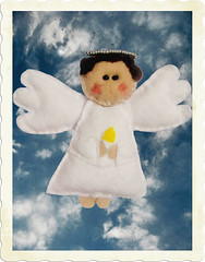 ~Make A Wish~ (mirabo) Tags: christmas angel handmade ange bleu ciel mira blanc handcrafts nel faitmain angelot mirabo
