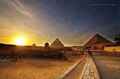 The Pyramids of Giza (Christopher Chan) Tags: travel sphinx canon desert northafrica egypt middleeast cairo pyramids 1022mm giza hdr 30d mostviewed aeb anawesomeshot