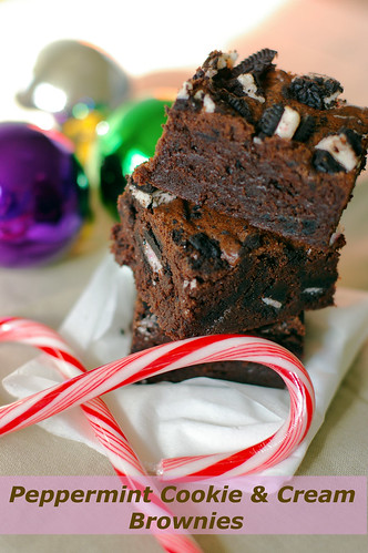 peppermint cookie & cream brownies