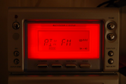 Christmas radio in red