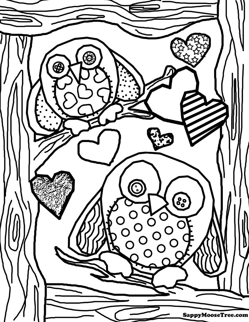 coloring pages of cute owls - photo#35