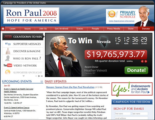 Ron Paul for President website