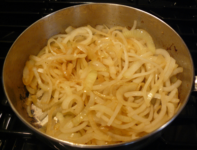 sauteing onions for soup