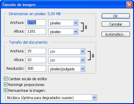 Pixeles para imprimir a 10x15