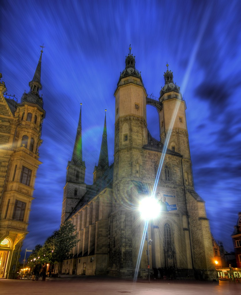 The Halle Church in Twilight