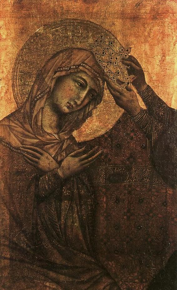 DUCCIO di Buoninsegna (workshop) Coronation of the Virgin, c1311