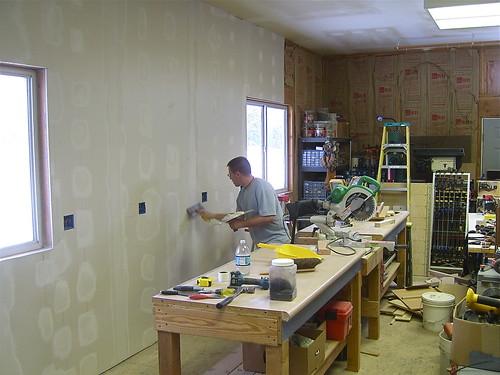 Finishing The Shop Walls