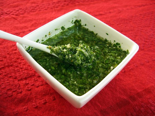 Parsley-Garlic Chimichurri