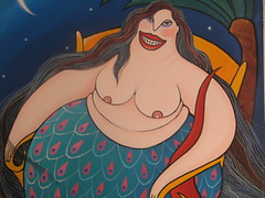 Murial Mermaid by janetfo747 ~ I dream of Africa - Fishing Village at Zihuatanejo, mural on wall of bar