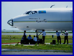 UN-65776 ([ naufal ]) Tags: sun grass captains aircraft crew baggage russian runway engineers mle cabincrew techcrew towbar hulhule maleinternationalairport vrmm baggagehold satairlines baggagecompartment tupolev134a3 un65776