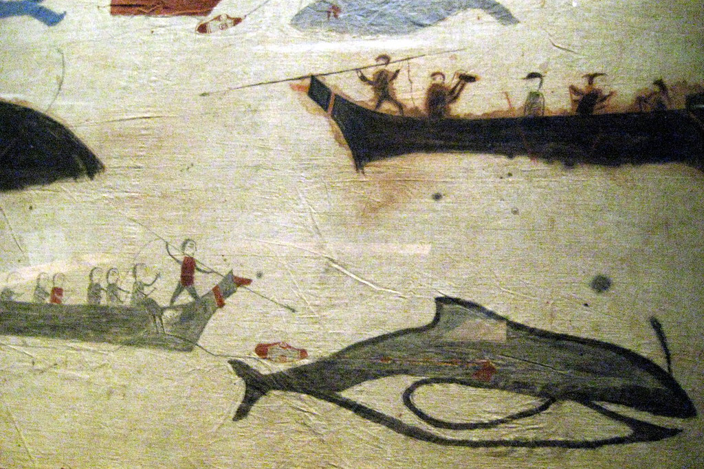 NYC - National Museum of the American Indian - Whale Hunt Painted Screen