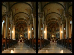 Church of Larochette (Biokees) Tags: stereoscopic stereophotography 3d crosseyed stereopair luxembourg luxemburg stereographic larochette