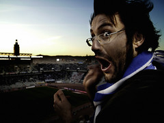 (GerardTho) Tags: barcelona blue eye fan football thomas stadium orgasm soccer celebration madness supporter match mad clap montjuic gol laliga suporter myeverydaylife happynes supershot diamondclassphotographer espanyolfc mallorcaespanyol