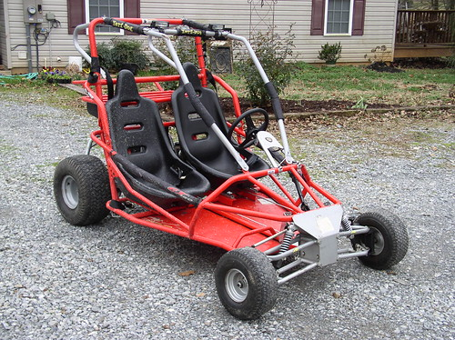 lucky me, i get to choose from 3 different go karts, need your help