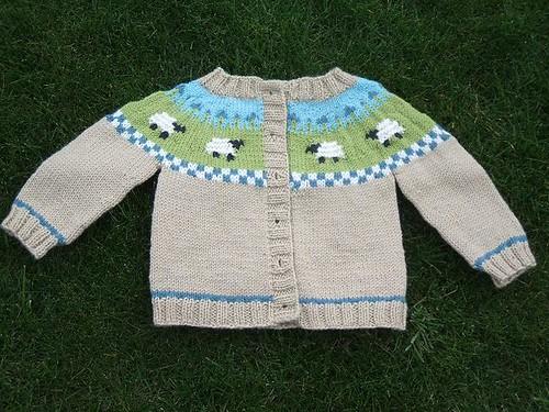 Sheep Yoke Baby Cardigan - FO