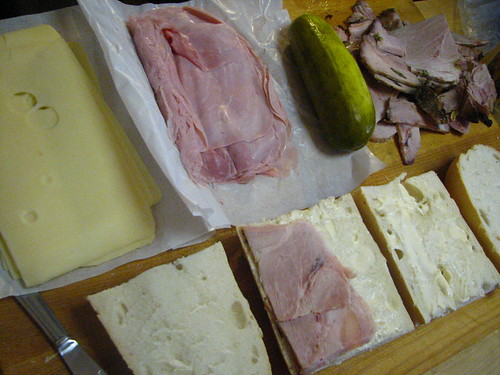 Preparing Cuban Sandwich