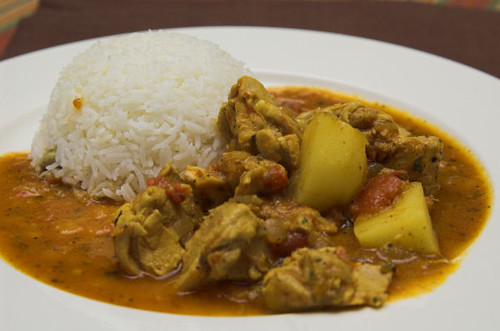 Derm's chicken curry