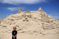 now THAT's a sandcastle! (shuttershrink) Tags: beard wizard sandcastle texascoast texassandfest sandsculpting ptaransas tonsofsand
