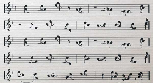 El pentagrama musical y su historia