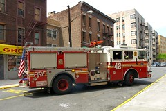 """E042e FDNY """"Made from the best stuff on Earth"""" Engine 42, Mount Hope, Bronx, New York City (jag9889) Tags: county city nyc house ny newyork building station architecture fire bronx engine company borough firehouse 2008 fdny 42 firefighters seagrave bravest mounthope engine42 y2008 e042 jag9889"""
