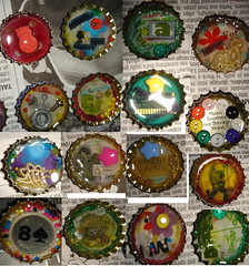 Bottle Cap Jewelery (pagered) Tags: glitter fun beads buttons made sprinkles resin caymanislands boltsandscrews caybrew bottlecapjewelery jewelerycollagefound objectcolorfulprettywoman madeabstractcrazyillustrationhand dinomacandcheese