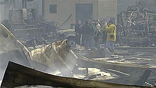 Universal Studios edifico destrozado