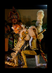 Malla pili in Tiger Dance (Canon_Vision) Tags: india canon drums dance stageshow karnataka infosys folkdance dasara mangalore 24105 lseries dakshinakannada southkanara canon400d hulivesha tigerdance canon24105mmf4lisusmlens kiransham