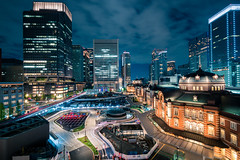 夜 東京 日本 丸の内 東京駅 night tokyo japan marunouchi kitte... (Photo: Nigal Raymond on Flickr)