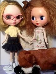Blythe-a-Day# 11. Casual: Cori-Elaina, Mimsy&Barkley