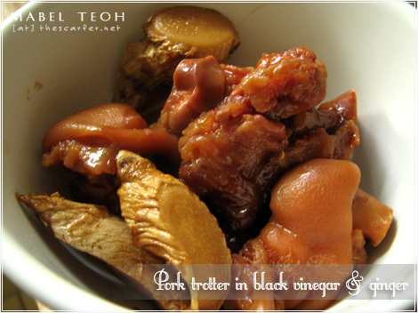 Pork trotter in black vinegar & ginger