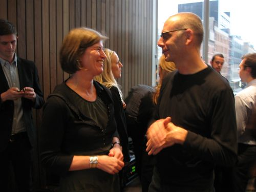 Julie and Morris Adjmi share a moment before the talk.