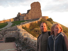 Miska and Joe at Devin castle