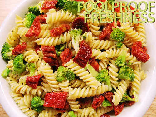 Broccoli and Sun-dried Tomato Fusilli (with title)