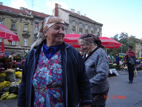 At the market place in Zagreb