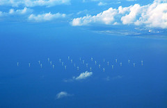 Barrow Offshore wind farm from the air (silyld) Tags: sea tag3 taggedout flying tag2 tag1 power wind farm offshore fromabove diamond electricity ryanair airborne blackpool generation aerialphotography turbine barrow windfarm ecofriendly irishsea anawesomeshot flickrphotoaward barrowoffshorewindfarm barrowoffshore