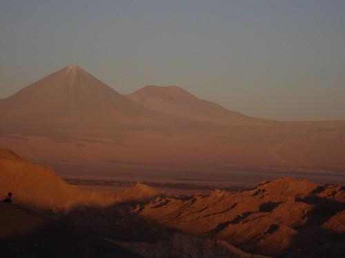 Atardecer en el volcán Licancabur