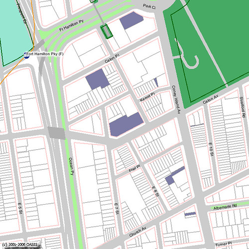 Map of Vacant Lot on Caton Avenue in Kensington